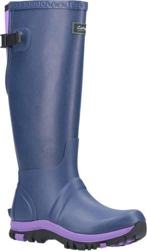 Cotswold Realm Plain Rubber Wellingtons Blue / Purple